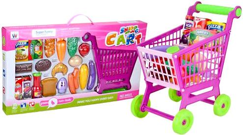 Игровой набор Shantou Gepai Тележка для покупок с набором продуктов 942773