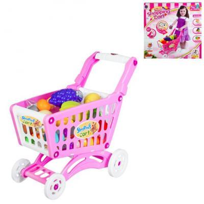 Игровой набор Shantou Gepai Тележка для покупок с продуктами игровой набор shantou gepai магазинчик тележка с продуктами 14 предметов