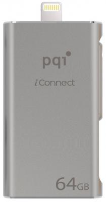 Флешка USB 64Gb PQI iConnect 6I01-064GR2001 серебристый