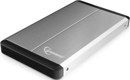 Внешний контейнер для HDD 2.5 SATA Gembird EE2-U3S-2-S USB3.0 серебряный 1pcs serial ata sata 4 pin ide to 2 of 15 hdd power adapter cable hot worldwide