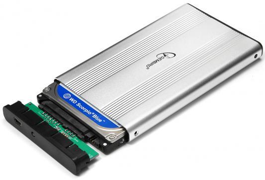 Внешний контейнер для HDD 2.5 SATA Gembird EE2-U2S-5-S USB2.0 серебряный внешний контейнер для hdd 2 5 sata gembird ee2 u2s 40p b usb2 0 синий