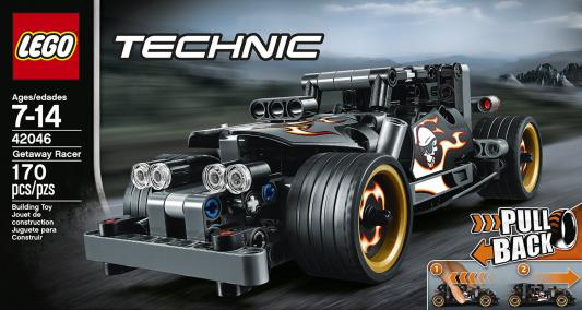 Конструктор LEGO Technic: Гоночный автомобиль для побега 170 элементов 42046 lego technic конструктор гоночный автомобиль для побега