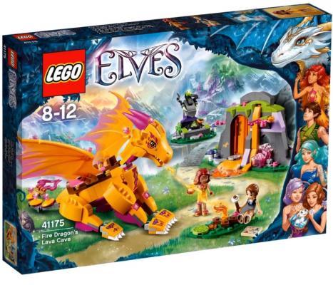 Конструктор LEGO Elves: Лавовая пещера дракона огня 441 элемент 41175