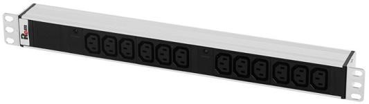 Блок розеток ЦМО R-32-12C13-I-440-K черный 12 розеток