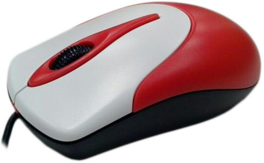 Мышь проводная Genius NetScroll 100 V2 красный USB мышь genius netscroll 100 v2 черно белый