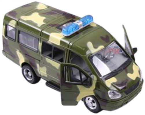 Интерактивная игрушка Play Smart Автопарк- Газель 3221 от 3 лет хаки свет, звук, Р40531 машины play smart автопарк инерционная машина газель 3221 такси 23 см