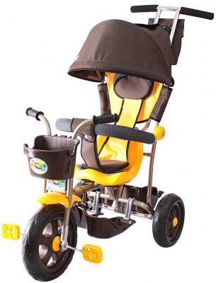 цена на Велосипед Rich Toys Galaxy Лучик с капюшоном 5391/Л001 коричнево-желтый