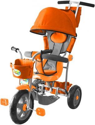 Велосипед Rich Toys Galaxy Лучик с капюшоном оранжевый Л001 велосипед r toys galaxy лучик с капюшоном фиолетовый трехколёсный 5598 л001