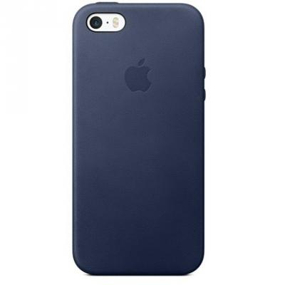 Накладка Apple Leather Case для iPhone 5  5S   голубой MMHG2ZM\\