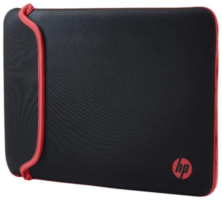 """Чехол для ноутбука 14"""" HP Chroma Sleeve неопрен черный красный V1M56AA/V5C26AA"""