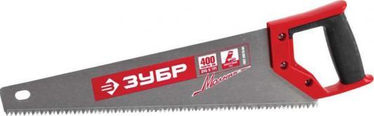 цена на Ножовка Зубр Мастер Молния по дереву крупный зуб двухкомпонентная ручка 15075-40_z01