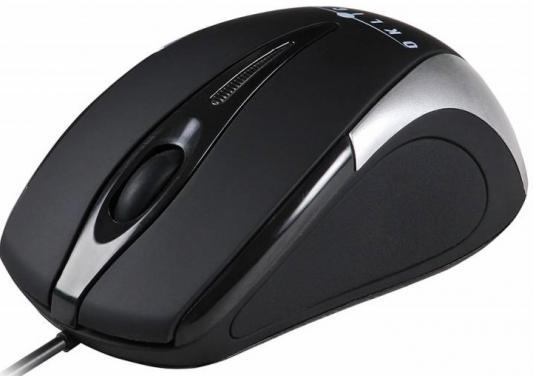 Мышь проводная Oklick 235M чёрный серебристый USB
