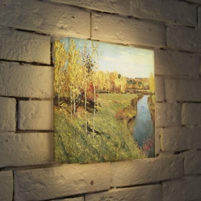 Лайтбокс Левитан Золотая осень 25x25-141 картина золотая осень левитан