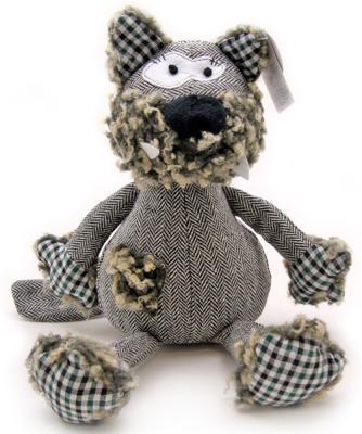 """Мягкая игрушка собака Jackie Chinoco """"Собака Льюис"""" текстиль искусственный мех серый 27 см"""