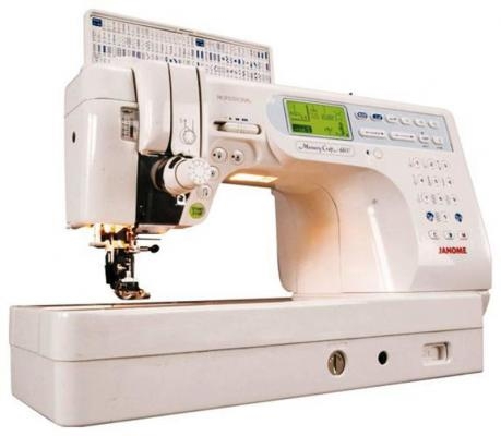 Швейная машина Janome Memory Craft 6600P белый  janome horizon memory craft 8200 qc