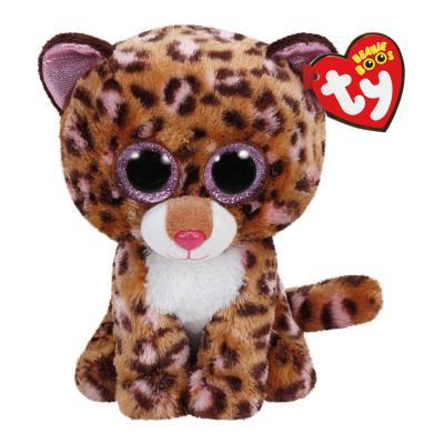 Мягкая игрушка леопард TY Леопард Patches плюш искусственный мех разноцветный 15 см 0008421371778