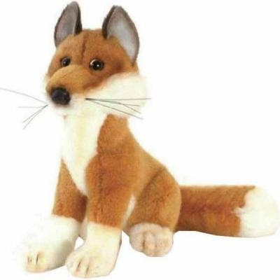 Мягкая игрушка лисица Hansa Лиса искусственный мех рыжий 19 см 2826 hansa мягкая игрушка лиса