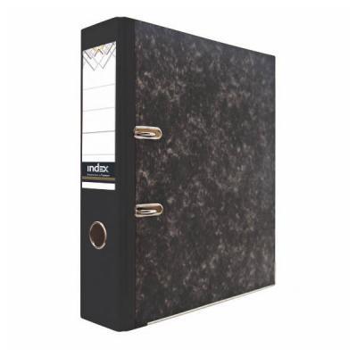 Папка-регистратор под мрамор, 50 мм, А4, черная IND 5/50 папка регистратор aro мрамор 50 мм