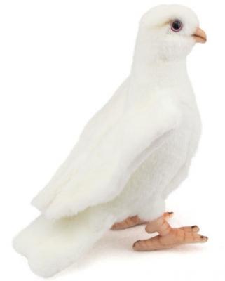 Мягкая игрушка птица Hansa Белый голубь искусственный мех белый 20 см 5434 мягкая игрушка hansa лиса 20 см