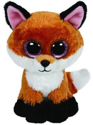 Мягкая игрушка лисица TY Лисенок Slick плюш оранжевый 33 см