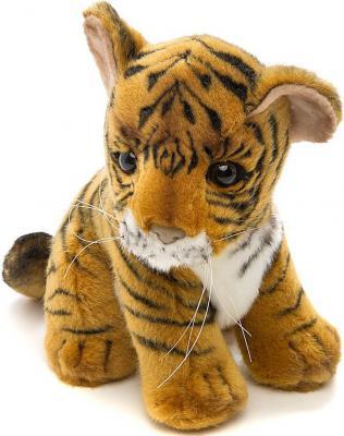 Мягкая игрушка тигр Hansa Тигренок искусственный мех синтепон рыжий 18 см 3421 мягкая игрушка собака hansa собака породы чихуахуа искусственный мех синтепон коричневый белый 31 см 6501