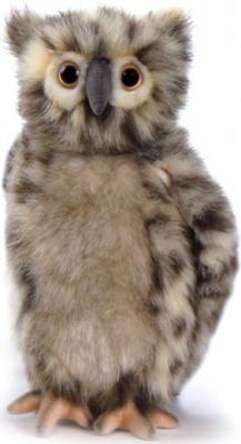 Мягкая игрушка сова Hansa Сова, искусственный мех синтепон серый 25 см 4136 мягкая игрушка сова hansa сова белая 18 см белый искусственный мех синтепон 6155