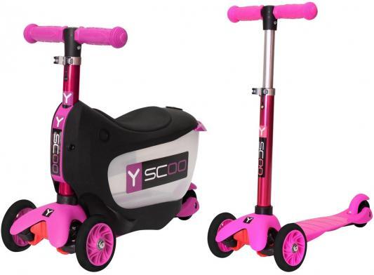 Самокат-каталка Y-SCOO Mini Jump&Go розовый