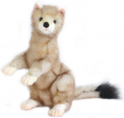 Купить Мягкая игрушка горностай Hansa Японский горностай искусственный мех бежевый 28 см 5729, Животные