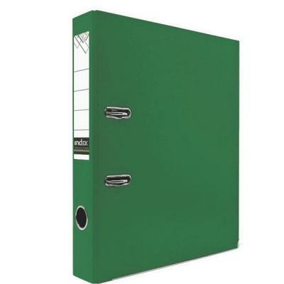 Папка-регистратор с покрытием PVC и металлической окантовкой, 50 мм, А4, зеленая IND 5/30 PVC NEW ЗЕЛ папка регистратор 80 мм эконом без покрытия