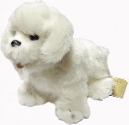 Мягкая игрушка собака Hansa Собака породы Бишон Фризе искусственный мех белый 30 см 6317 мягкая игрушка собака orange чихуа kiki малиновый блеск текстиль искусственный мех розовый коричневый 25 см ld010