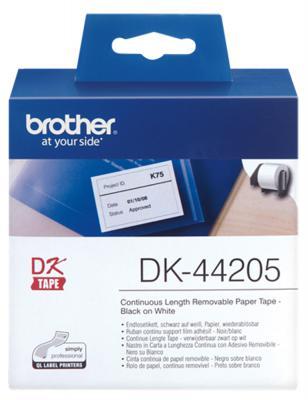 Купить Этикетка Brother DK-44205 62ммх30.48м черный на белом