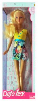 """Кукла Defa Lucy """"Модная"""" в желто-голубом платье"""