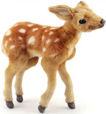 Мягкая игрушка олень Hansa Олененок Бэмби искусственный мех синтепон разноцветный 30 см 4936 мягкая игрушка собака hansa собака породы бишон фризе искусственный мех белый 30 см 6317