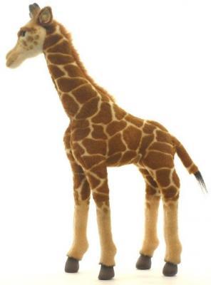 Мягкая игрушка жираф Hansa Жираф искусственный мех синтепон пластик разноцветный 50 см 3429 мягкая игрушка енот hansa енот лежащий 74 см разноцветный искусственный мех синтепон пластик 2312