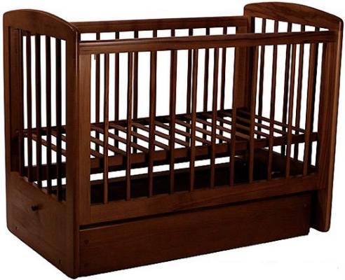Кроватка с маятником Лель Ромашка АБ16.2 (темный орех 35)