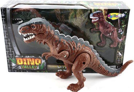 Интерактивная игрушка Shantou Gepai Динозавр эл. 632072 от 3 лет коричневый NY007-A интерактивная игрушка shantou gepai я тоже рулю 2213 от 3 лет в ассортименте