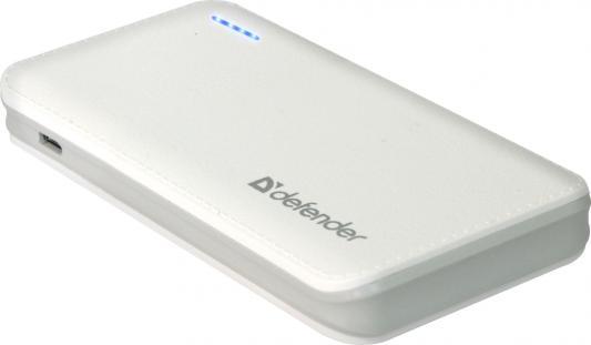 Портативное зарядное устройство Defender Tesla 5000 5V/2А USB 5000 mAh белый 83638 батарейный мод joyetech evic vtwo 80 w 5000 mah белый клиромайзер cubis pro
