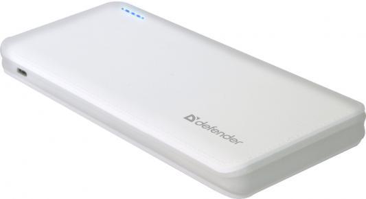 где купить Портативное зарядное устройство Defender Tesla 10000 5V/2А USB 10000 mAh белый 83639 дешево