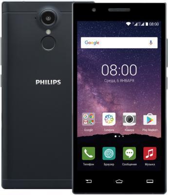"Смартфон Philips Xenium X586 черный 5"" 16 Гб LTE Wi-Fi GPS 3G"