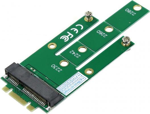 Переходник для подключения mSATA диска к разъему NGFF Orient C293S