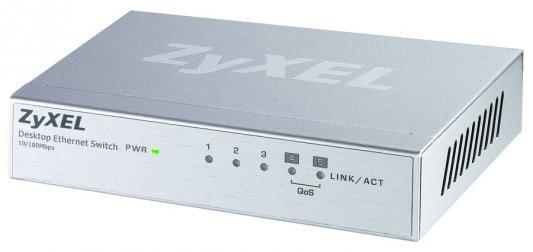 Коммутатор Zyxel ES-105A_V2 неуправляемый 5 портов 10/100Mbps коммутатор zyxel gs1900 48 eu0101f