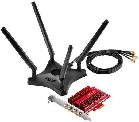 Беспроводной PCI-E адаптер ASUS PCE-AC88 802.11ac 2100Mbps 2.4 или 5ГГц