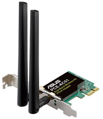 Беспроводной PCI-E адаптер ASUS PCE-AC51 802.11ac 433Mbps 2.4 или 5ГГц