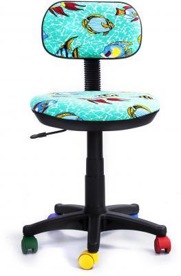 Кресло Recardo Junior D12 бирюзовый с рисунком рыбы gtsN / D12 цена