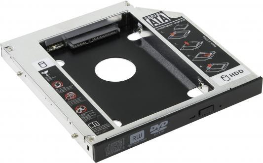 """Шасси Orient UHD-2SC12 для 2.5"""" SATA HDD для установки в SATA отсек оптического привода ноутбука 12.7 мм 30263 шасси orient uhd 2msc9 для ssd msata для установки в sata отсек оптического привода ноутбука 9 5 мм 30344"""