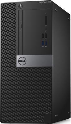 Системный блок DELL OptiPlex 5040 MT i7-6700 3.4GHz 8Gb 500Gb HD530 DVD-RW Win10Pro клавиатура мышь черный 5040-8449