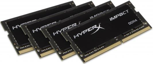 Оперативная память для ноутбука 16Gb (4x16Gb) PC4-19200 2400MHz DDR4 SO-DIMM CL15 Kingston HX424S15IBK4/64