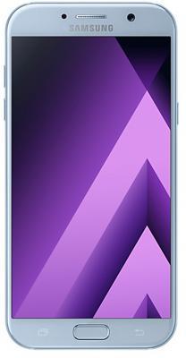 Смартфон Samsung Galaxy A7 Duos 2017 синий 5.7 32 Гб NFC LTE Wi-Fi GPS 3G SM-A720FZBDSER samsung galaxy s4 2 ядра dual 5 дюймов wi fi duos android 4 0 2 sim