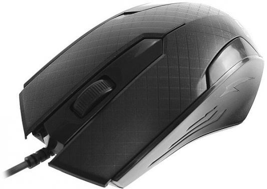 Мышь проводная Crown СММ-100 чёрный USB