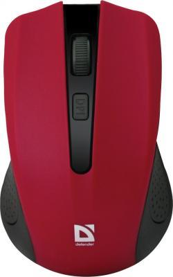 Мышь беспроводная Defender Accura MM-935 красный USB 52937